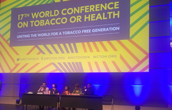 Participation of CCT staff at World Conference on Tobacco or Health 2018